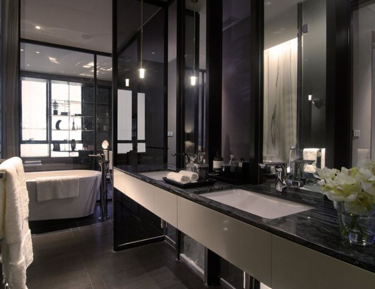 black bathroom ideas for dark interior color lovers