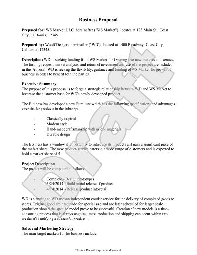 Proposal Form Template Contractor Bid Proposal Pdf Template Can Be