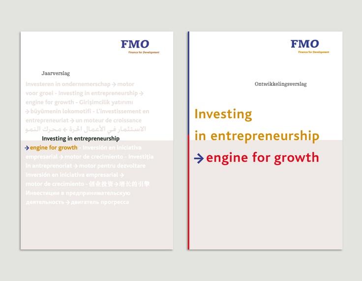 Omslagen jaarverslag en ontwikkelingsverslag, FMO / jaarverslagenontwerp / 2004 ontwerp Cascade visuele communicatie Amsterdam