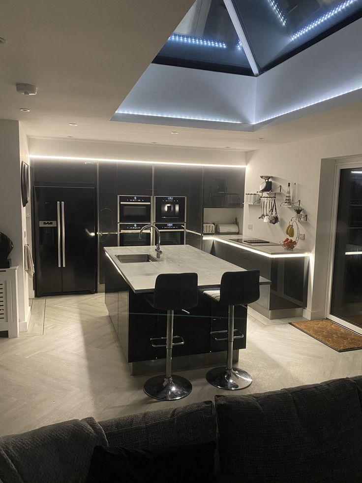 Kitchen in 2020 Roof lantern, Worktop lighting, Hue lights