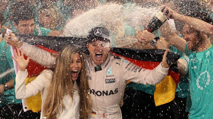 Vivian et Nico Rosberg (Mercedes) au Grand Prix d'Abou Dabi 2016