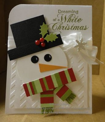 Dreaming of a White Christmas Snowman Casrd...Stampin' & Scrappin' with Stasia.