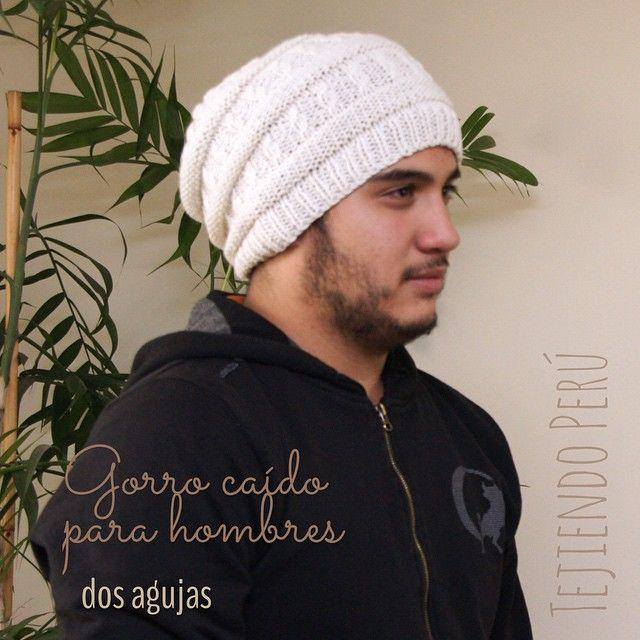 Gorro caído tejido en dos agujas o palitos para hombres! English subtitles: men's slouchy beanie! Todo el paso a paso está en nuestra web: www.tejiendoperu.com :)