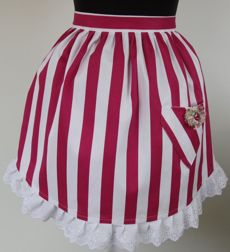 Kandy Kapers - ladies half apron by ALollyCreation on Etsy