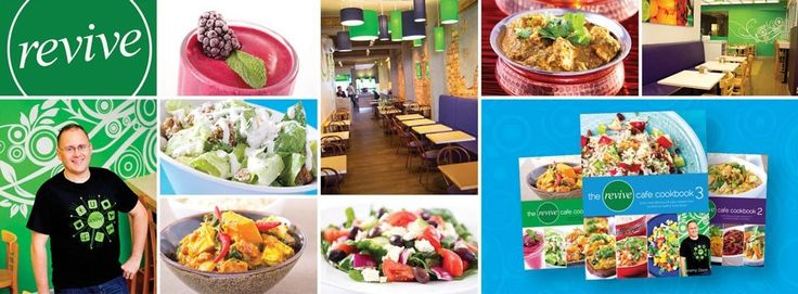 Revive Cafe! Delicious Salads, Hot Meals & Smoothies! NEW cookbook and on-line ordering!