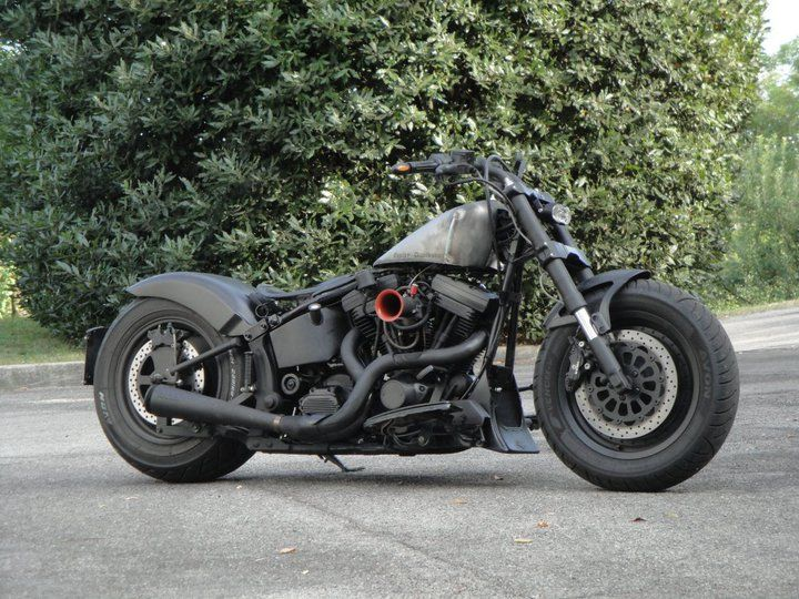 fat boy 99 by nero opaco motociclette cars bikes. Black Bedroom Furniture Sets. Home Design Ideas