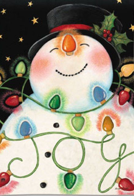 SNOWMAN ~ and bright lights!