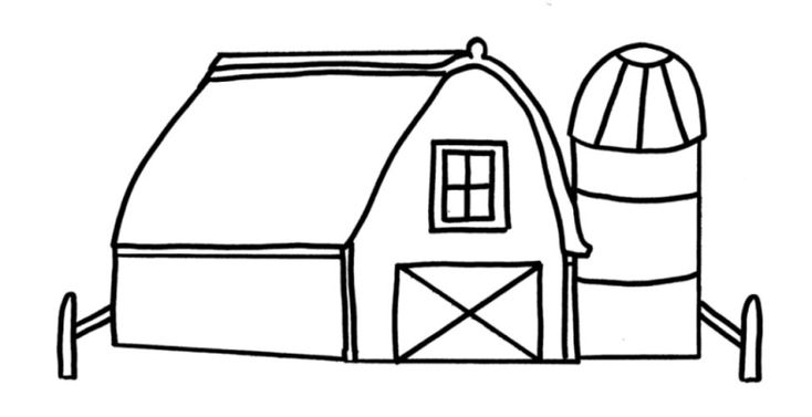 barn outline printable - photo #12