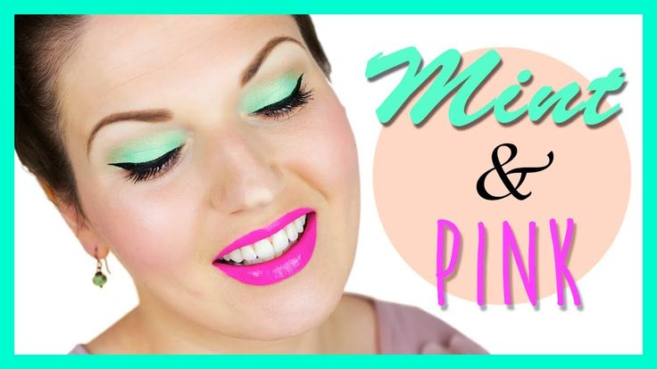 Mint & Pink ☼ Sommer Makeup I would do this but with a slightly lighter pink instead of fuchsia.