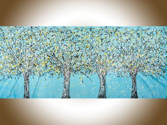 72 Jackson Pollock Inspired Drip Art Original Abstract Large Wall Art Painting On Canvas Abstract Tree Painting Drip Art Abstract Tree Painting Large Wall Art