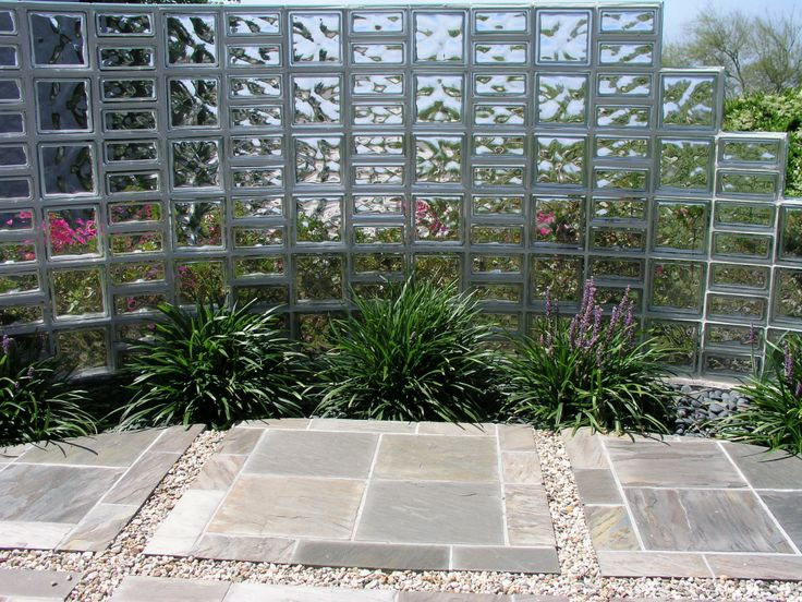 Beautiful Use Of Glass Blocks In The Garden. Creates Privacy And A Sense Of  Serenity