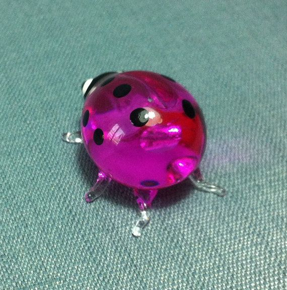 Hand Blown Glass Funny Ladybug Ladybird Insect Animal Cute