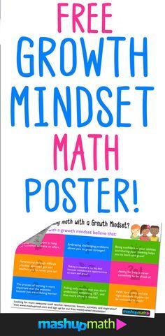 Growth Mindset Math Poster FREE