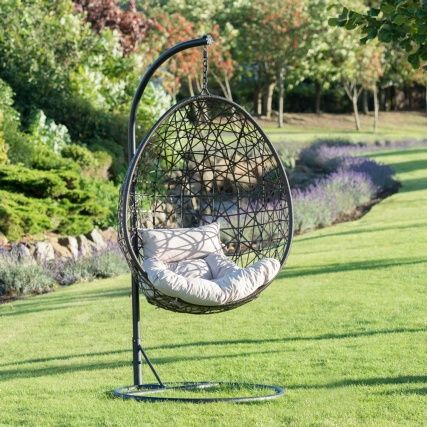 Venice hanging egg chair perfect for relaxing in your garden or conservatory buy garden furniture at bm stores