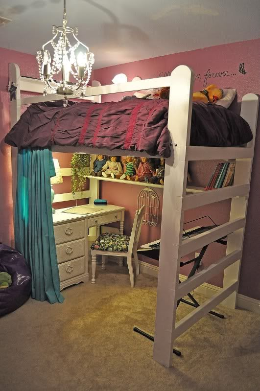 Idea For Under Loft Bed Shelf For American Girl Dolls