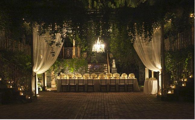 Magical garden wedding reception magic garden for Outdoor wedding ceremony locations
