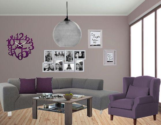 Paarse Decoratie Woonkamer : Paars grijs paars lila tinten in woonkamer