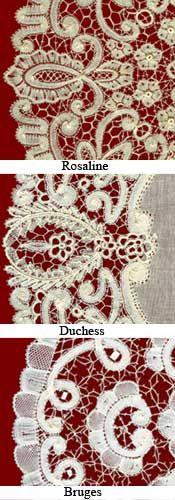 Belgian Laces: Rosaline, Duchesse and Bruges Laces