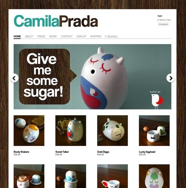 Great product and perfect site to match it's quirky style. The cutaway on the speach bubble is really cute as well. Website design.