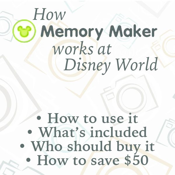 (Article last updated: December 3, 2014) Memory Maker is a hot topic since Disney promotes it a lot but many (most?) people are really confused about how it works and whether or not they should buy it for their trip. Today, I have details about how it works, what's included, who should buy it...