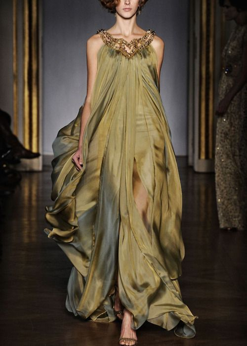 : Fashion, Green Goddesses, Color, Gowns, Couture Dresses, Dilekhanif, Green Dresses, Dilek Hanif, Haute Couture