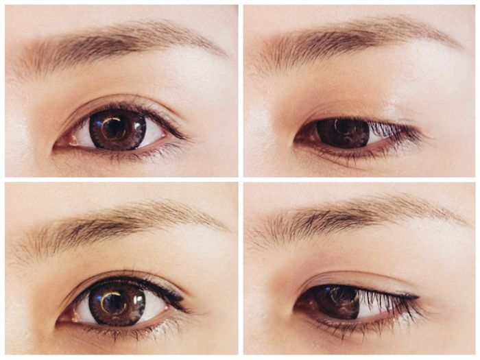 Before Amp After Browhaus Eye Define Semi Perm Eye Liner