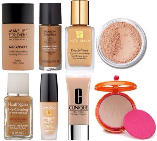 Makeup oily skin foundation