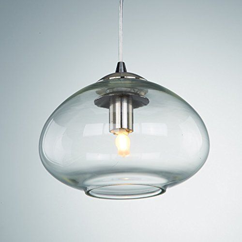 YOBO Lighting Modern Brushed Nickel Opening Oval Glass