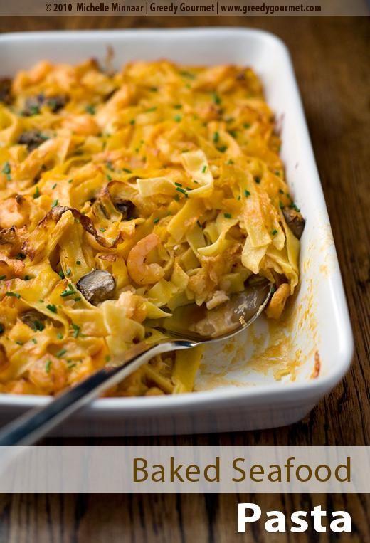 Seafood Recipes : Baked Seafood Pasta Recipe