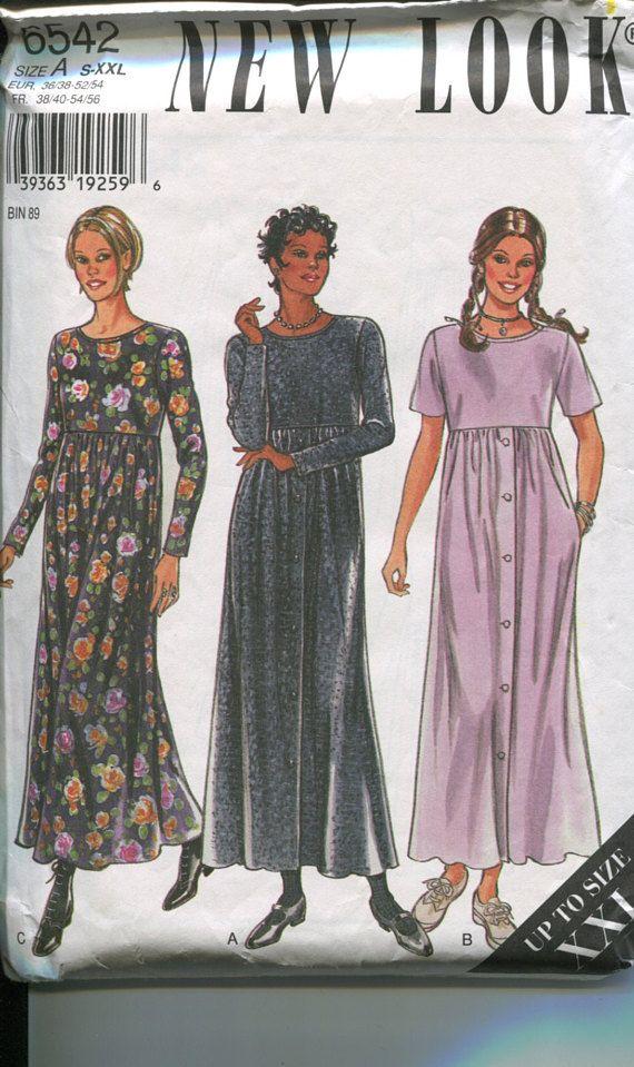 Modest Dress Patterns : modest, dress, patterns, Look,, Sewing, Pattern,, 6542,, Modest, Dress,, Comfortable, Clothing,, Dress, Couture, Tutoriel,, Robe,