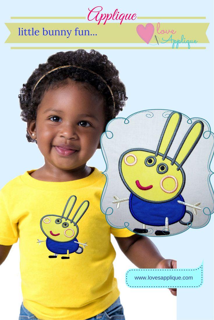 Peppa Pig Applique Designs. Peppa Pig embroidery Designs. Peppa Pig Designs. Peppa Pig Bunny. Peppa Pig Party Ideas. Peppa Pig OUtfits. www.lovesapplique.com