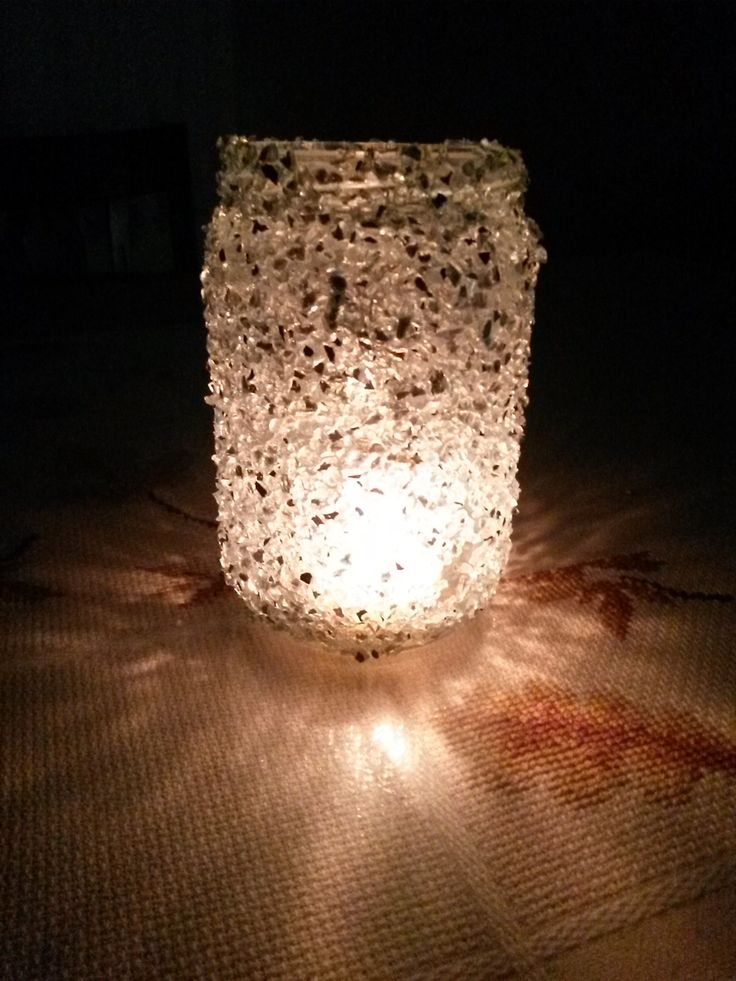 Candle holder from jar