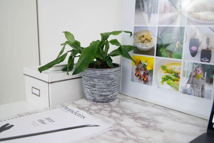 Schreibtisch Update und Fotocollage* - yellowgirl der DIY und lifestyle Blog