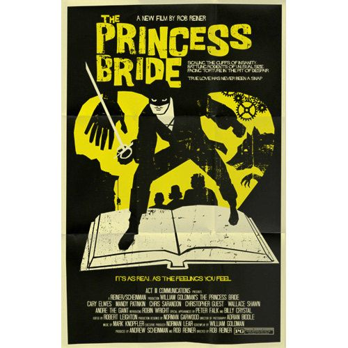 Princess Bride vintage style movie poster