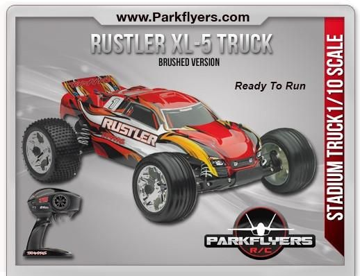 The Traxxas Rustler 1/10 Scale 2WD Stadium Truck XL-5® RC Car SKU 37054-1