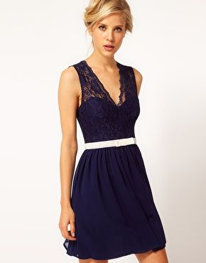 Enlarge ASOS Scalloped Lace Skater Dress