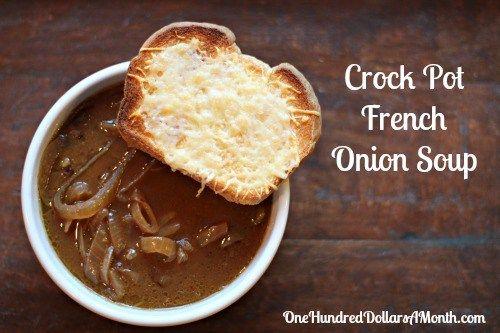 Easy Crock Pot Recipes - French Onion Soup