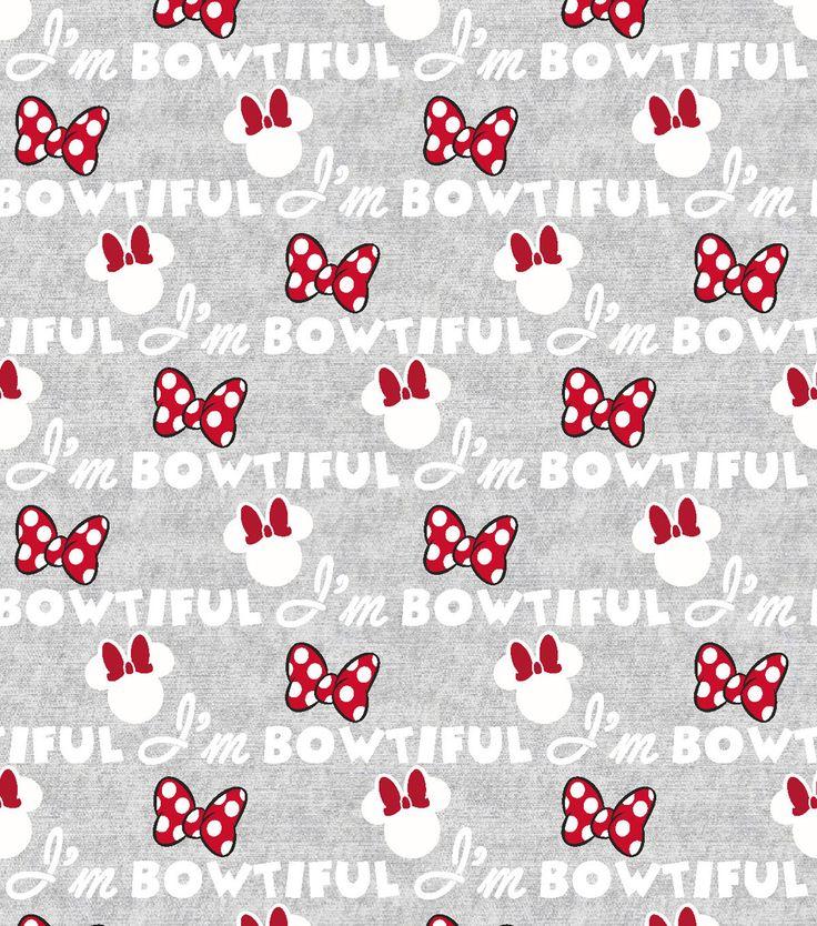 Disney Minnie Bowtiful Flannel FabricDisney Minnie Bowtiful Flannel Fabric,