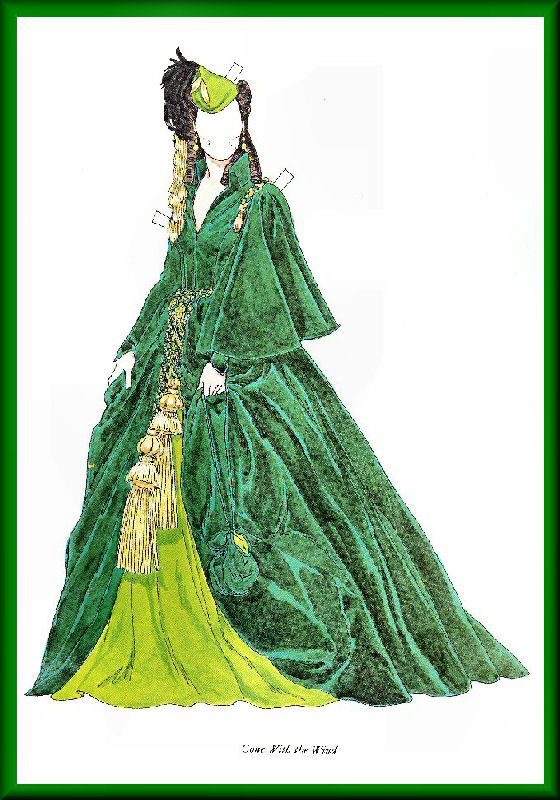 Vivien Leigh - Gone With the Wind* 1500 free paper dolls international artist Arielle Gabriel's The Internatonal Paper Doll Society for paper doll pals at Pinterest *