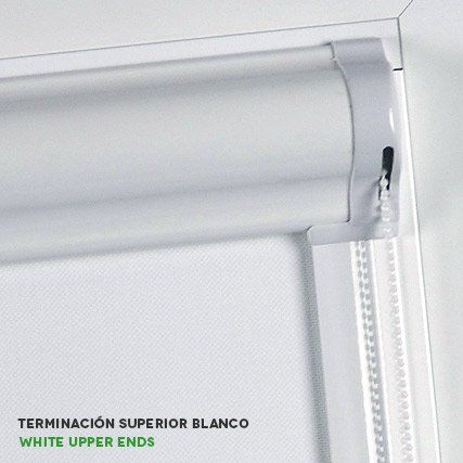 Estores enrollables corti glass terminación superior de cortinadecor