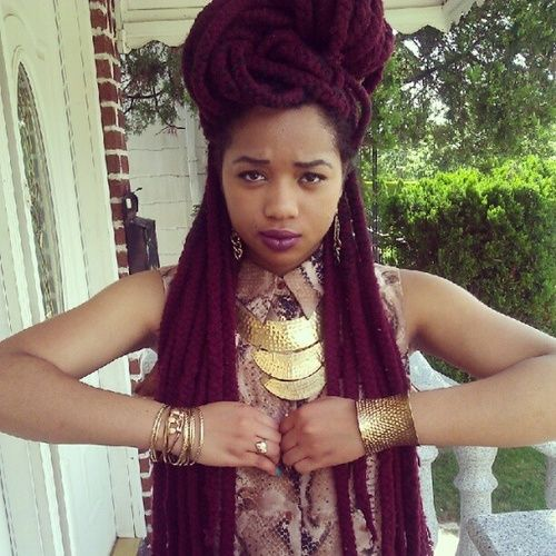 Crochet Yarn Braids : Yarn braids ~ Protective Styles Pinterest Yarn Braids, Yarns and ...
