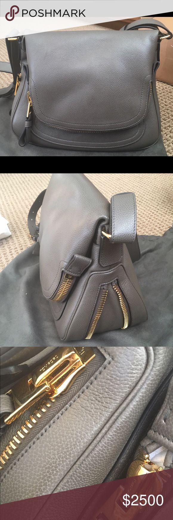 Tom Ford Jennifer Handbag - large Tom Ford's Signature Jennifer Bag in Grey Tom Ford Bags Shoulder Bags