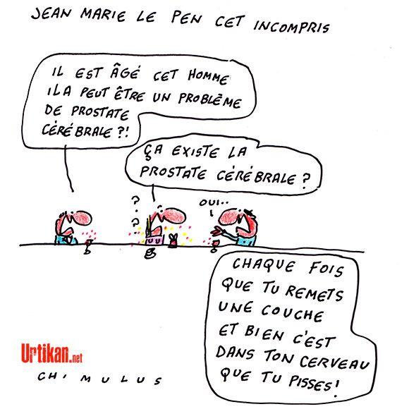 « Marine Le Pen dynamite sa propre formation », accuse son père - Dessin du jour - Urtikan.net