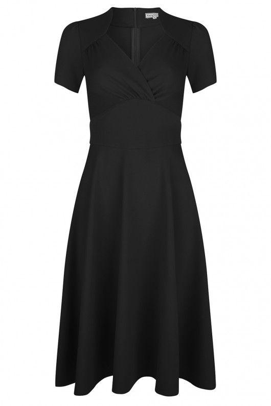 Very Cherry - Hollywood Circle dress Black - Jurken