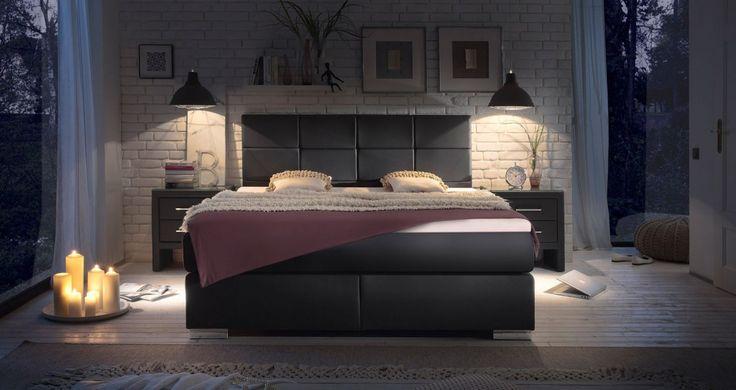 Nowoczesne łóżka kontynentalne Boxspring. #lozkatapicerowane #stylowelozka #lozkaboxspring #lozka #lozko #lozkadosypialni #lozkomalzenskie #lozkakontynentalne