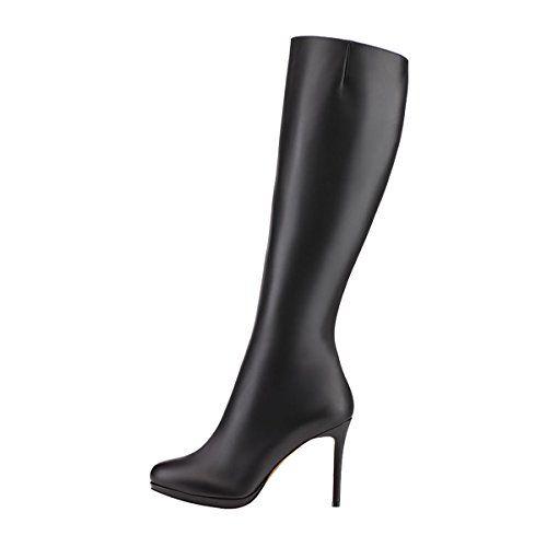 Onlymaker Damenschuhe High Heels Knie Hoch Reissverschluss Krause Stiefel - http://on-line-kaufen.de/onlymaker/onlymaker-damenschuhe-high-heels-knie-hoch