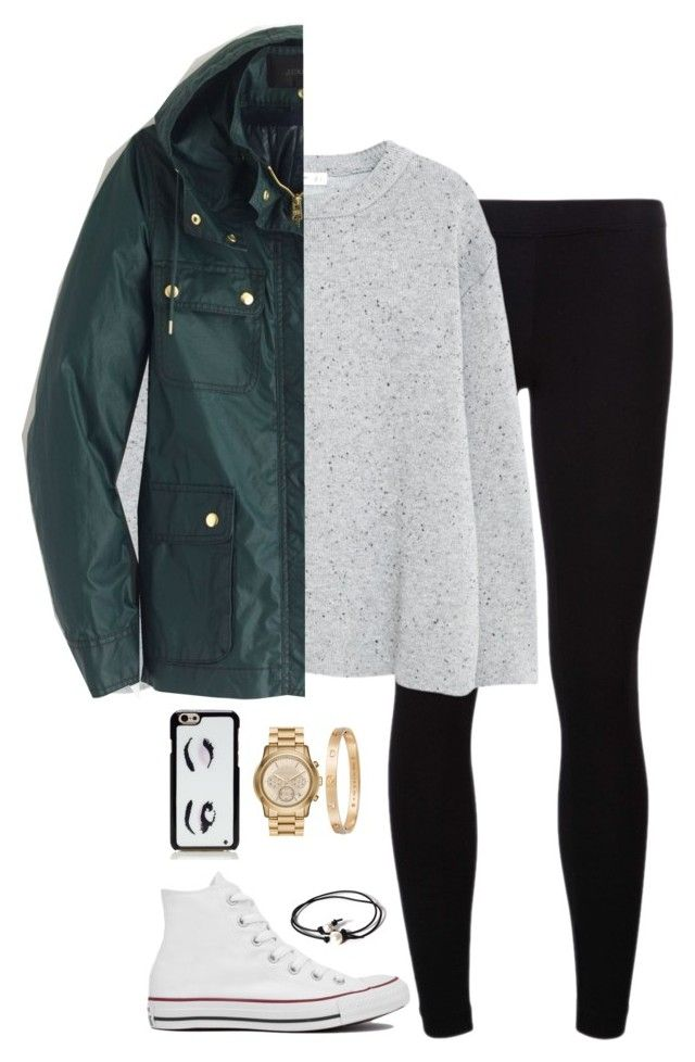 """""""misty"""" by tessorastefan ❤ liked on Polyvore featuring James Perse, MANGO, J.Crew, Converse, Joie, Kate Spade, MICHAEL Michael Kors, Cartier, women's clothing and women"""