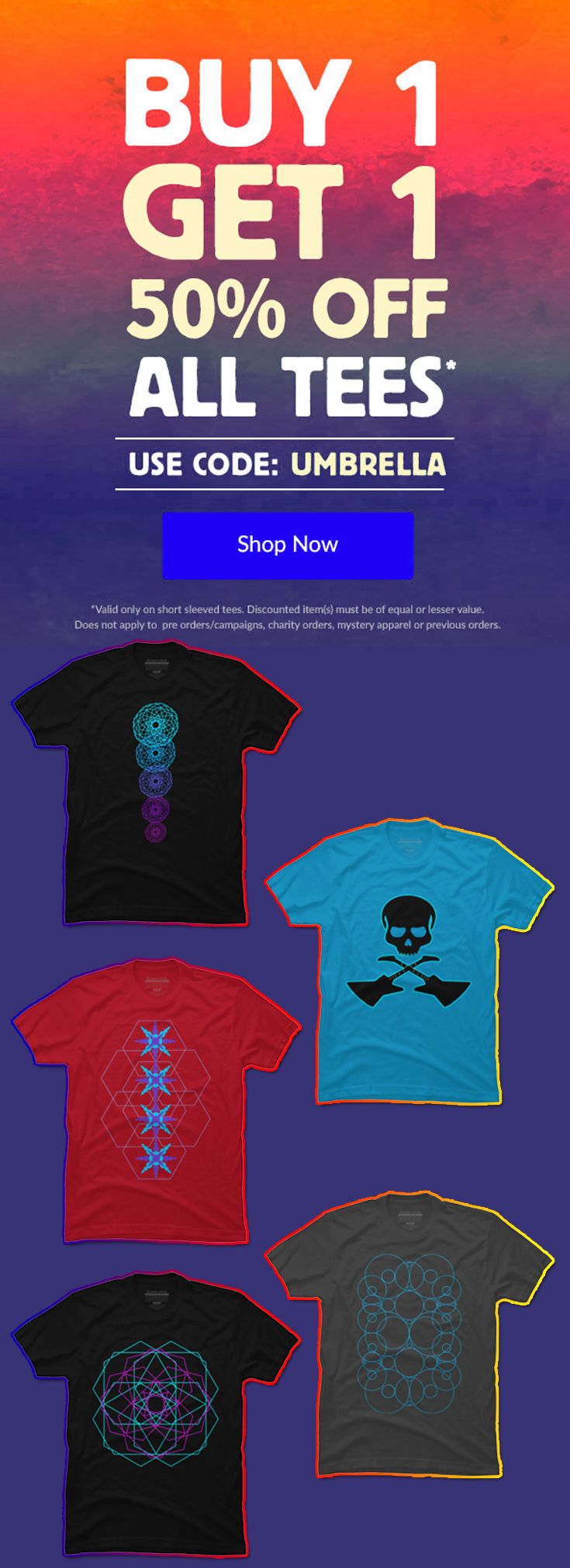 Buy 1 Get 1 50% OFF ALL T-Shirts by Scar Design. Just use code : UMBRELLA. #discount #sales #save #tshirts #fashion #style #family #art #shopping #online #desigbyhumans #skull #giftsforhim #giftsforher #onlineshopping #geometric #lgbt #music #1960 #modern #neon #skull #skulltshirt #rock #pop #designbyhumans #giftsforhim #giftsforher