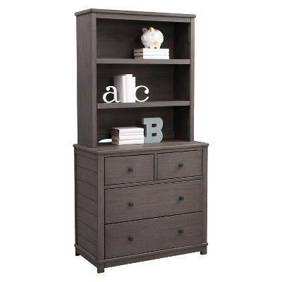 simmons monterey dresser. simmons kids slumbertime monterey bookcase/hutch - rustic gray dresser