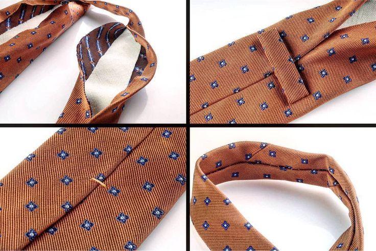 Anatomia della cravatta: smontiamo una cravatta e scopriamo quali sono le parti che la compongono! Le cravatte potrebbero sembrare tutte piuttosto simili: sono strisce di tessuto dai colori più o